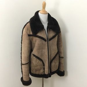 Vintage Sheepskin Sherpa Coat